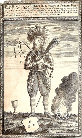 Birger Jarl - The great Prince Birger Jarl as Erik Dahlberg depicted him in the 17th century.