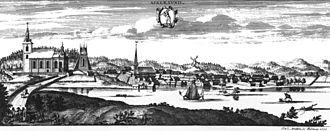 Askersund - Askersund in 1705, in Suecia antiqua et hodierna.