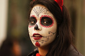 Calavera - Image: Sugar skull face painting