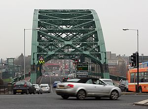 Wearmouth Bridge - The Wearmouth Bridge from the south.