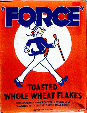 "Sunny Jim - ""Sunny Jim"", depicted on a 1930s box of Force Cereal"