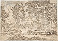 Sunrise (recto); Landscape with Figures (verso) MET DP805694.jpg