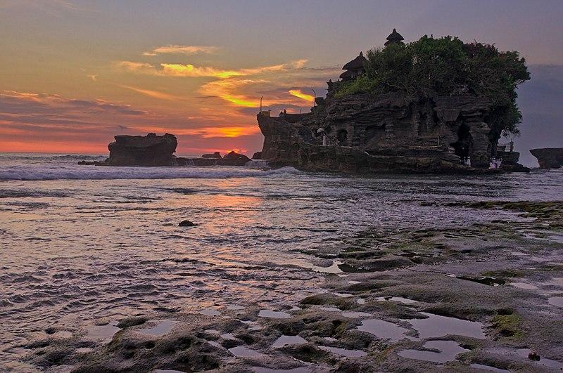 File:Sunset At Tanah Lot Temple (185263897).jpeg