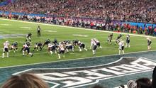 f57da3f8 A Philadelphia Eagles handoff during the first quarter. The New England  Patriots ...