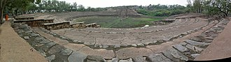 Surajkund - A panoramic view of the entire Surjakund lake during the dry season