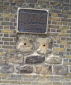 Photo of Surrey Iron Railway brass plaque