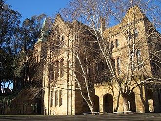 Crown Street Public School - The sandstone facade of Crown Street Public School, pictured in 2007