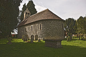 Norman architecture - St Swithun's, Nately Scures from the south west