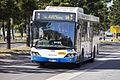 Sydney Buses (2086 ST) Custom Coaches 'CB60' Evo II bodied Volvo B12BLE Euro 5 on Olympic Boulevard at Sydney Olympic Park (1).jpg