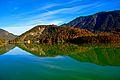 Sylvensteinspeicher, Sylvensteinsee. Blick von der Fallerklammbrücke (8878864908).jpg