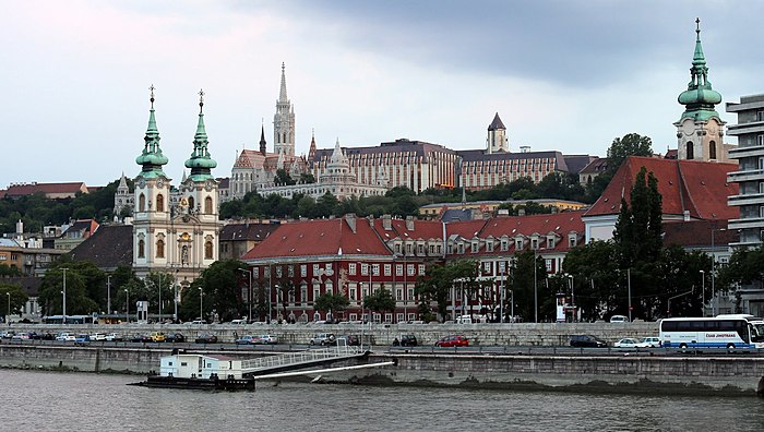 From left: Saint Anne Parish, Matthias Church, Fisherman's Bastion and Stigmatisation of Saint Francis Church SzentAnnaFotoThalerTamas34.JPG