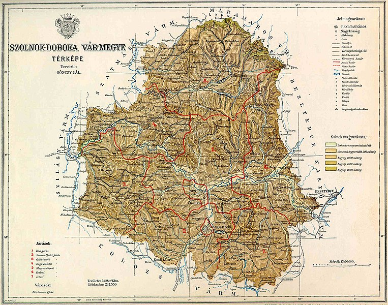 Fichier:Szolnok-Doboka county map.jpg