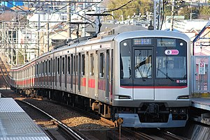 Minatomirai Line - Image: Tōkyū 5000kei train made up of eight cars