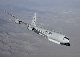 Northrop Grumman E-8 Joint STARS - E-8C performing flight testing with JT8D-219 engines at Edwards AFB