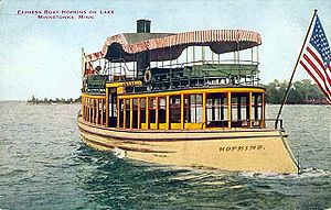 "Twin City Rapid Transit Company - ""Streetcar boat"" Hopkins on Lake Minnetonka"