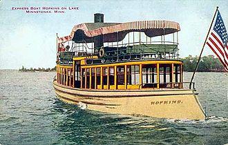 "Twin City Rapid Transit Company - ""Streetcar boat"" Hopkins on Lake Minnetonka"