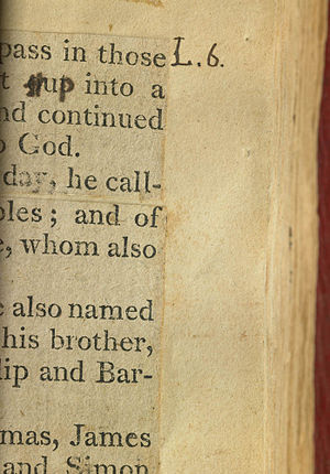 Jefferson Bible - Image: TJB Out Up Page 6