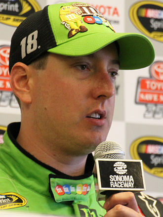 2015 Daytona 500 - Kyle Busch, pictured at the Toyota/Save Mart 350 later in the season, was injured during the Xfinity Series race and was unable to compete in the Daytona 500.