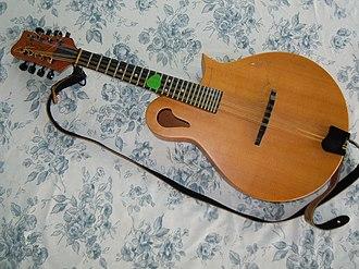 Tacoma Guitars - Tacoma M1 mandolin with paisley sound hole on the upper bout.