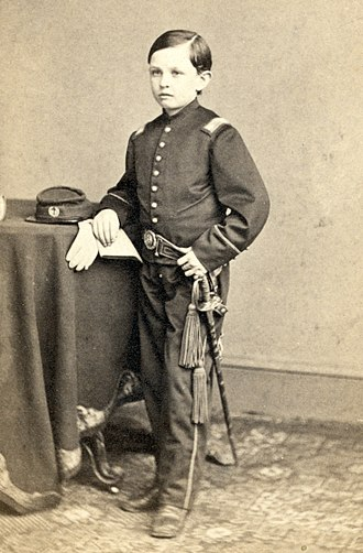 Tad Lincoln - Lincoln wearing a military-style uniform, c. 1864