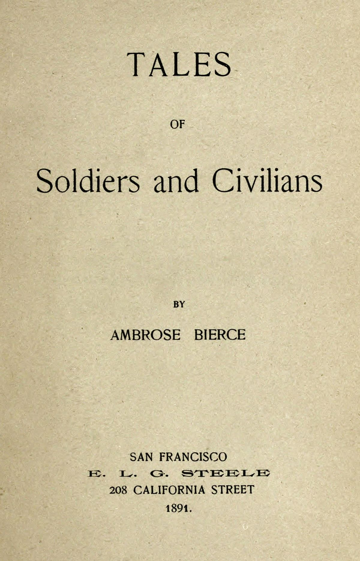 essays on ambrose bierce Works by ambrose bierce: during his career as a journalist, poet, and author of fiction and nonfiction, ambrose bierce published more than four million words.