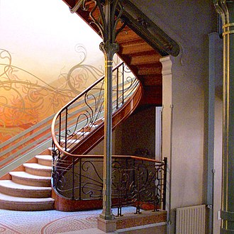 Art Nouveau in Brussels - Stairway in the Hôtel Tassel  by Victor Horta (1894)