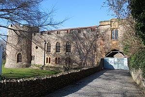 Taunton Castle - The closed entrance