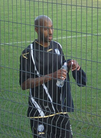 Mickaël Tavares - Tavares after playing for Chernomorets Burgas in friendly match.