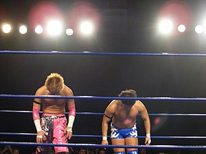 Daisuke Harada - Harada and Kotoge thanking the crowd, after their first round match in the 2010 King of Trios