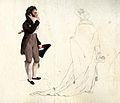 Teckning, akvarell. Man och kvinna, tidigt 1800-tal - Nordiska Museet - NMA.0052137.jpg