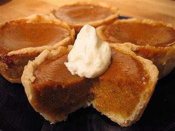 Teeny Pumpkin Pie tartlets.