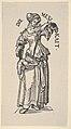 Temperance (Die Mesikait), from The Seven Virtues, in Holzschnitte alter Meister gedruckt von den Originalstöcken der Sammlung Derschau im besitz des Staatlichen Kupferstich-kabinetts zu Berlin MET DP834018.jpg