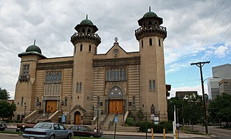 History of Jews in Denver - The old Temple Emanuel on Pearl Street, now on the National Register of Historic Places