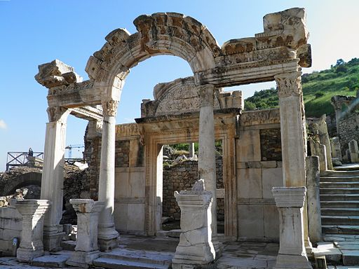 Temple of Hadrian, Ephesus, Turkey (13283467693)