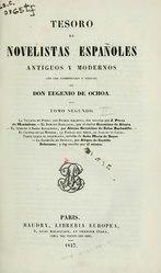 Eugenio de Ochoa: Español: Tesoro de novelistas españoles antiguos y modernos; con una introduccion y noticias