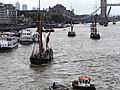 Thames barge parade - through Tower Bridge into the Pool 6690.JPG