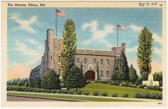 Cecil County, Maryland - Image: The Armory, Elkton, Md (75030)