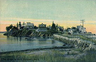 Harpswell, Maine - The causeway to Potts Point in 1914