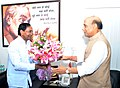 The Chief Minister of Telangana, Shri K. Chandrashekar Rao calls on the Union Home Minister, Shri Rajnath Singh, in New Delhi on September 07, 2014.jpg