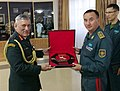 The Chief of Army Staff, General Bipin Rawat meeting the Kazakhstan's Commander-in-Chief of Land Forces, in Kazakhstan on August 03, 2017.jpg