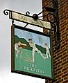 The Cricketers pub sign, Westfield Road - geograph.org.uk - 1758081.jpg