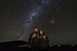Frederik, Crown Prince of Denmark - The Crown Prince and Crown Princess admire the night skies of ESO's Paranal Observatory