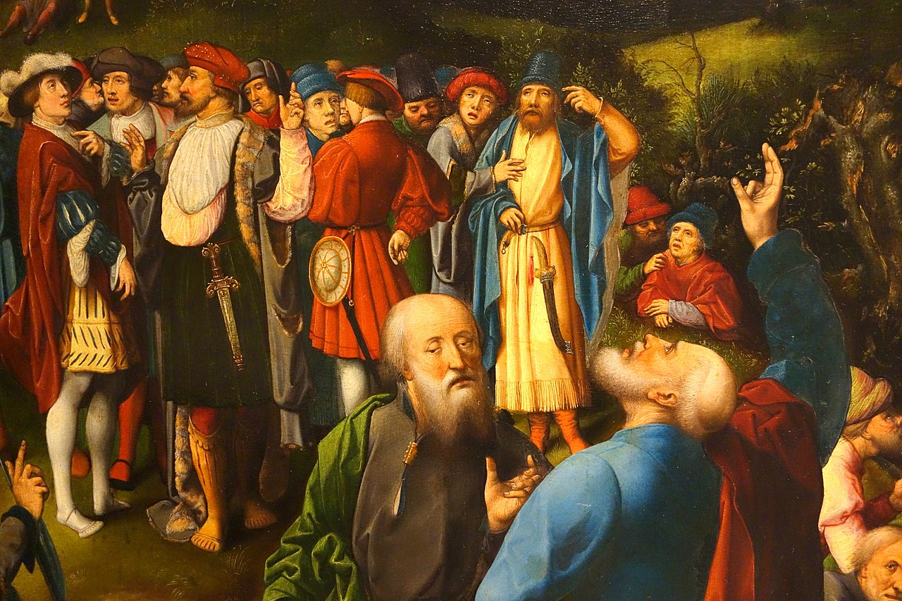 File:The Fall of Simon Magus (left) and The Conversion of St. Paul (right), by Jan Rombouts, c. 1522-1530, view 5 - Museum M - Leuven, Belgium - DSC05049. ...