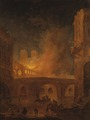 The Fire of Hôtel-Dieu in Paris 1772 (Hubert Robert) - Nationalmuseum - 23814.tif