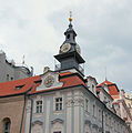 The Hebrew Clock On The Old Jewish Town Hall, Prague..jpg