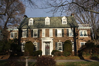 John B. Kelly Sr. - The Kelly family house in East Falls was built by John B. Kelly in 1929.