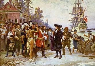 Jean Leon Gerome Ferris - The Landing of William Penn