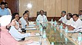 The Minister of State (Independent Charge) for Consumer Affairs, Food and Public Distribution, Professor K.V. Thomas chairing the meeting of the committee on containment of wastage of food, in New Delhi on June 23, 2011.jpg