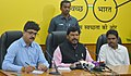 The Minister of State for Social Justice & Empowerment, Shri Ramdas Athawale addressing the press conference, in Chennai.jpg