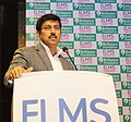 The Minister of State for Youth Affairs and Sports (IC) and Information & Broadcasting, Col. Rajyavardhan Singh Rathore addressing at the ELMS Sports Foundation launch ceremony, in New Delhi on December 19, 2017 (1).jpg